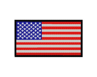 INSTANT DOWNLOAD American Flag Machine Embroidery Design