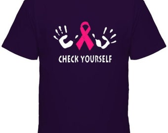 Check Yourself Breast Cancer t-shirt