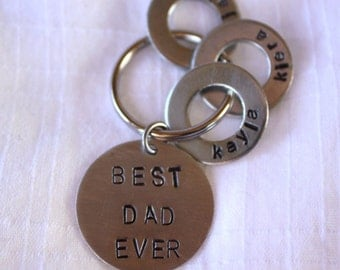 "Keychain for Dad - ""BEST DAD EVER"""