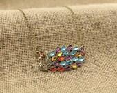 the Color  Phoenix peacock necklace Antique personalized jewelry steampunk Unique gift vintage bronze