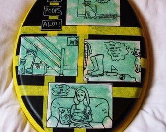 Sir Poops A Lot Hand Painted Toilet Seat