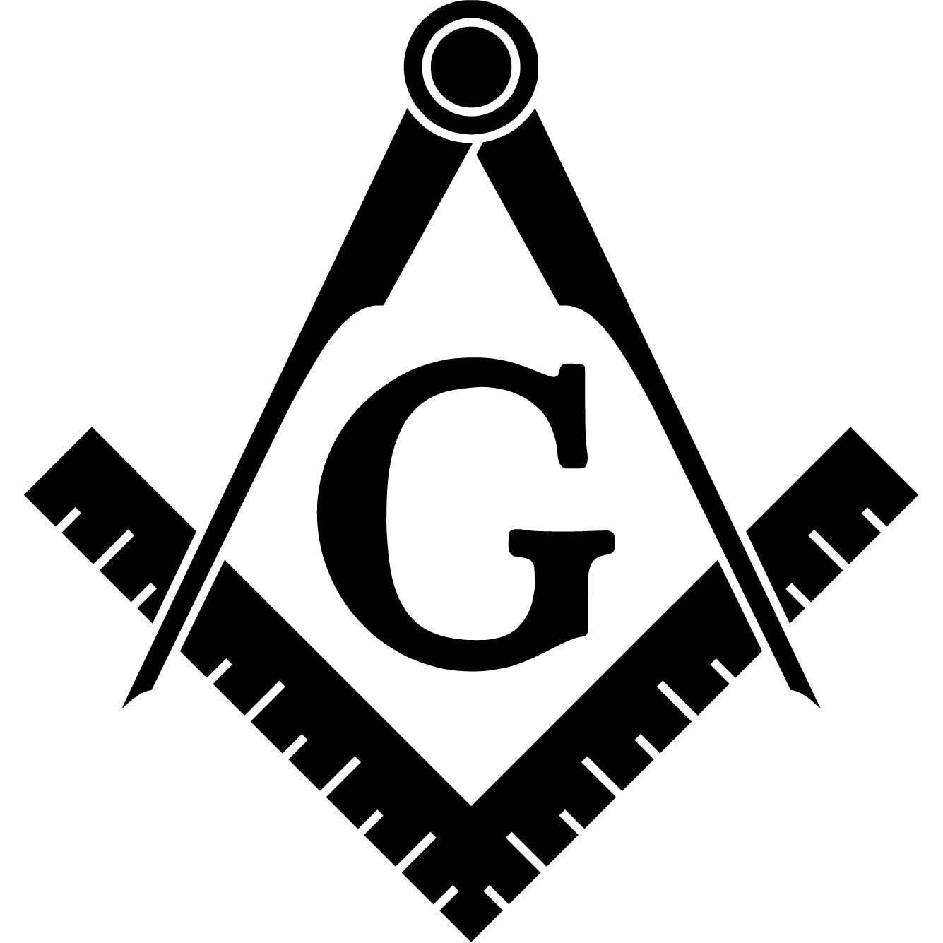 Freemason logo vinyl sticker decal symbol templar masonic for Freemason vector