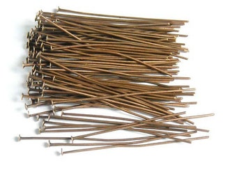 100 Copper Color Head Pins Jewelry Findings CCHP50MM-100D5