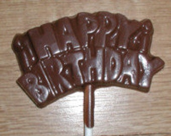 Happy Birthday  Lolly Chocolate Mold