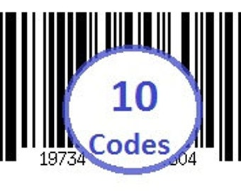 10 UPC GS-1 Barcodes & 250 Matte Labels (25 each code) to Sell Online or Retail Your Product  upc4u