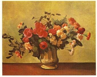 Collectors Vintage Art  Postcard - DERAIN  - Flowers in a Vase