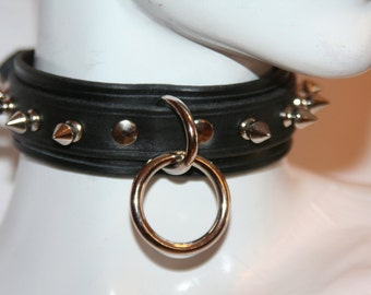 Gothic Choker Spikes And Single Oring