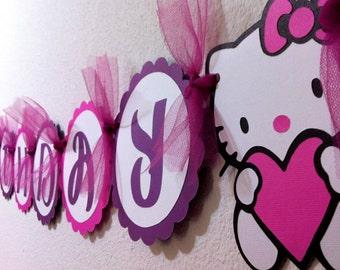 Pink purple birthday banner