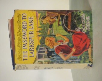 "Vintage 1942 - 1943 Nancy Drew Mystery- ""The Password to Larkspur Lane"""