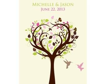 Items similar to Family Tree Custom Wall Art CANVAS Couple ...