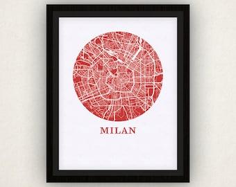 Milan Map Print - City Map Poster