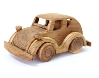 Wooden Toy Beetle Car in Handmade