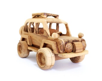 Wooden Toy Sport Utility Vehicle in Handmade