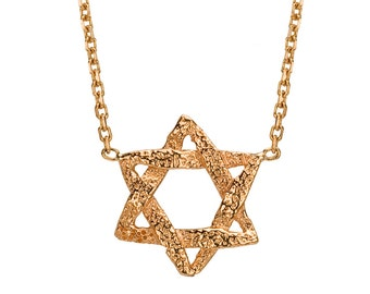 Rose Gold Star Of David Necklace - Delicate Star Of David - Magen David - Rose Gold Star Of David - Jewish Star Necklace - Jewish Jewelry