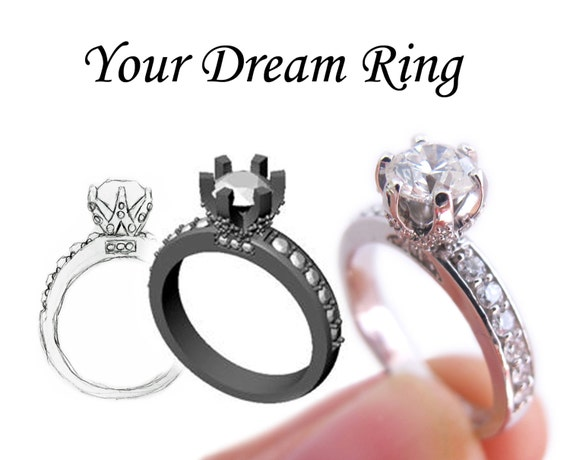 design your own engagement ring custom by theringsthething