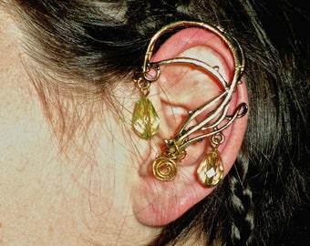 SALE: swirly left arwen elven ear cuff