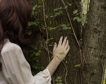 A Life Entwined 2 - FREE SHIPPING Fine Art Photo Print Nature Image Girl Tree Hugger Red Hair Green Vines Surreal Creepy Faceless Portrait