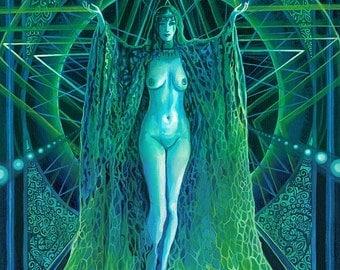 Lilith - Pagan Witch Goddess Art 16x20 Large Poster Print