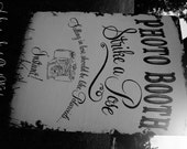 PHOTO BOOTH SIGN, Strike A Pose, Vintage Wedding Sign, Shabby Chic Wedding Decor