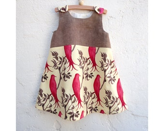 The Vivi Dress - Size 3T - Ready to Ship - One of a Kind Dress - Party Dress - Treetop Fancy Fabric by Tina Givens