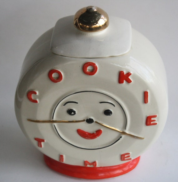 Cookie Time Vintage Clock Cookie Jar