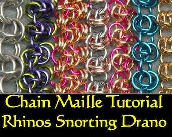 Chain Maille Tutorial - Rhinos Snorting Drano, Barrel and Rhinos Shaken Not Stirred