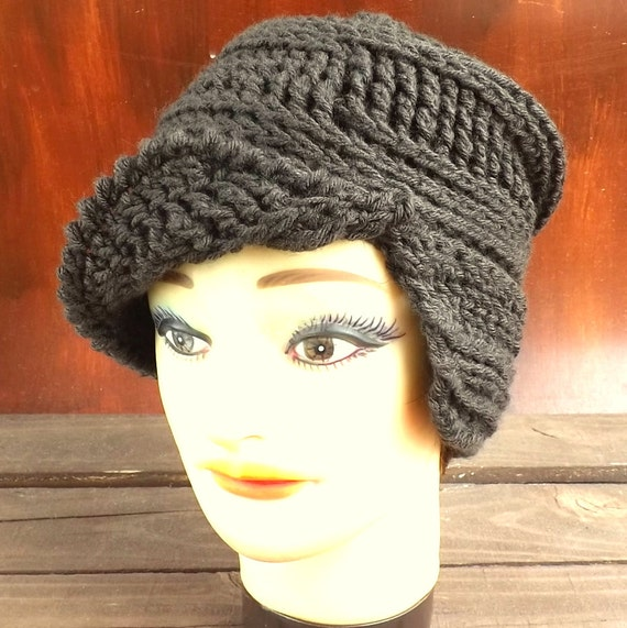 Crochet Pattern Hat Womens Crochet Hat by strawberrycouture