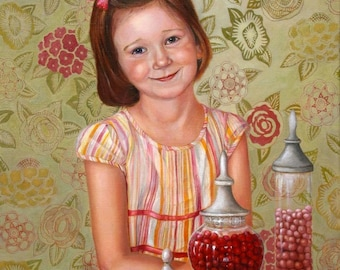 Custom Portrait of Kids - Child Portraits - Girl Portraits - Portraits by NC
