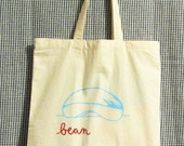 Bean Bag, Chicago cloud gate cotton grocery tote
