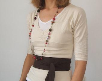 Dark Brown boho bohemian festival Obi belt sash  ... summer dress belt, obi belt, Japanese belt, Kimono sash, asian style, hippy chick wrap