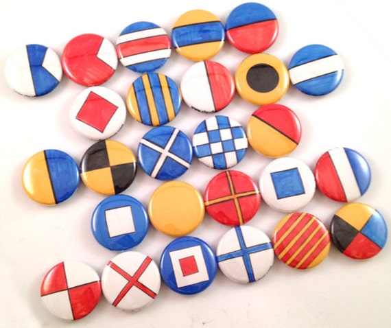 Nautical flag magnets nautical flag pins nautical by claudine