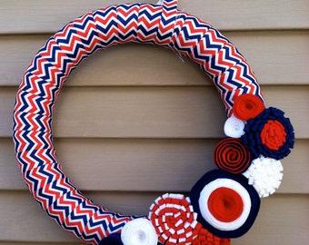 READY TO SHIP!  4th of July Wreath - Patriotic Wreath - Americana Wreath - Wreath - Flag Wreath - Chevron Wreath - July 4th Wreath - Wreath