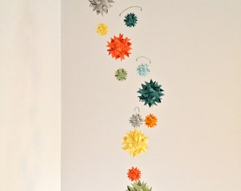 Baby Crib Mobile Origami Paper Spheres -'Corona Borealis'