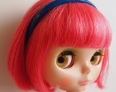 Royal Blue Plastic Headband for Blythe