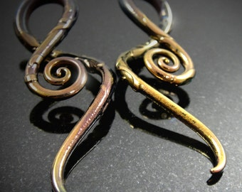 6G | Carved Gold Masquerade | Squids - Custom Made to Order - Glassheart Body Jewelry - Custom Plugs - Hanging Designs - 24K Gold over Glass