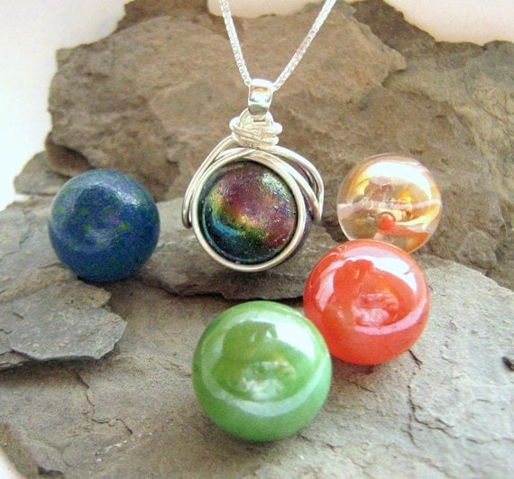 The pop in interchangeable marble necklace by ricksonjewellery for How to make marble jewelry