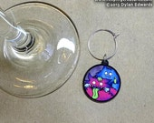 Silly Fuzzy Monsters - Feeping Creatures wine charm