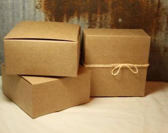 Kraft Gift Box 4X4X2 set of 30 -- Favor Box