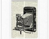 camera print III dictionary page print