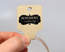 Custom Fold Over Necklace Jewelry Tags Jewelry Display Personalized Product Hanging Cards