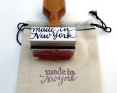 made in New York, Rubber Stamp, Modern Calligraphy Stamp, Gift Packaging Stamp