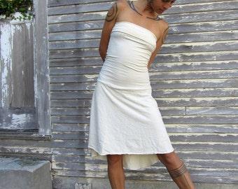 ORGANIC Love Me 2 Times Wanderer Mullet Short Dress - ( light hemp and organic cotton knit )