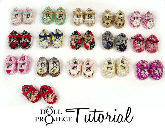 Altered Vinyl Shoes for Tiny Dolls PDF Tutorial How to Customize Little Doll Shoe Pairs for Amelia Thimble Heidi Ott tiny BJDs
