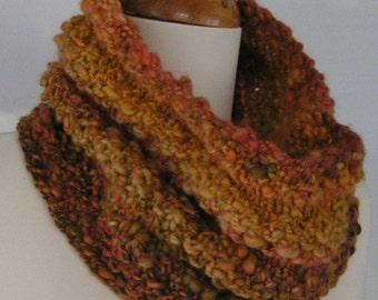 Pattern Knitting COWL Unisex Pattern SEEDIER Cowl Handspun PDF Unisex Heavy Worsted Bulky Intermediate Beginner
