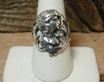 70% OFF Going Out of Business Sale.. Last One. Beautiful Woman - Sterling Silver Ring Size 9.5