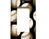 Baseball Wall Decor Sports Theme Decora Rocker Light Switchplate Cover (LK29)