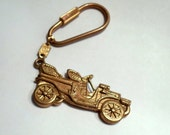 Antique Car Keychain by 1928 Jewelry Vintage 1980s