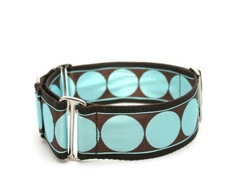 "2"" dog collar Breakfast with Audrey wide buckle or martingale collar"
