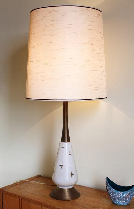 Vintage 1950s Atomic Lamp Mid Century Modern Starburst Design
