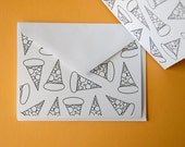 Pizza Note Cards (Set of 4 with envelopes)
